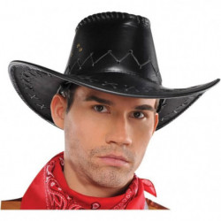 AMSCAN Chapeau Cowboy - Faux cuir