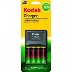 KODAK K620E Chargeur de piles AA ou AAA - Avec pack de 4 pil