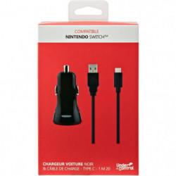 Chargeur voiture et câble de charge USB type C1 pour Nintend