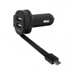 XQISIT Chargeur voiture Dual Charge 6A micro USB