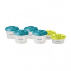 BEABA Lot de 6 portions clip 1er âge 60ml et 120ml (coloris