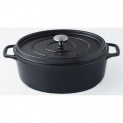 INVICTA Cocotte ovale - Ø 33 cm - Noir - Tous feux dont indu