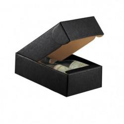 CLASSWINE Boîte carton noir pour 2 bouteilles