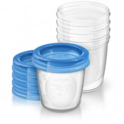 PHILIPS AVENT Pots de conservation 240 ml x 5 - Réutilisable