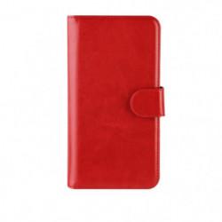 Etui Folio XQISIT Wallet Eman universel L rouge
