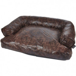 Canapé Chesterfield - Polyester - 65 x 45 cm - Chocolat - Po