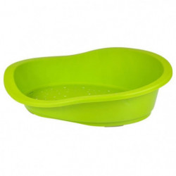 Corbeille plastique 50x35xh16cm - Vert anis - Pour chat