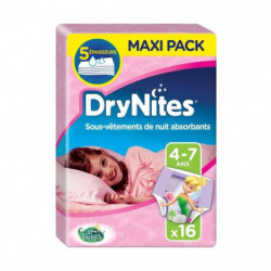 HUGGIES Couches Culottes Drynites La Fée Clochette Fille 4-7