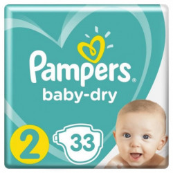 Pampers Baby-Dry Taille 2 , 4-8  kg - 33 Couches