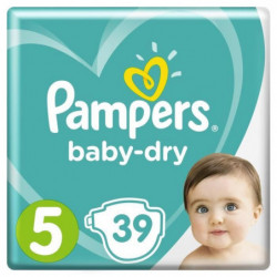 Pampers Baby-Dry Taille 5, 11-16 kg - 39 Couches