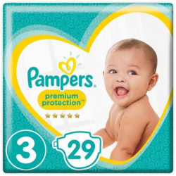 PAMPERS Premium Protection Taille 3 - 5 a 9kg - 29 couches