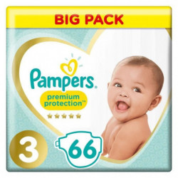 PAMPERS Premium Protection Taille 3 5-9 kg - 66 Couches