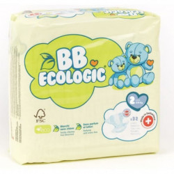 BEBE ECOLOGIC - Couches  taille 2 - 32 couches