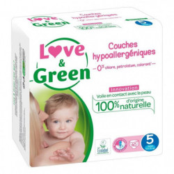 LOVE AND GREEN Couches ecolabellisées Taille 5 - 40 couches