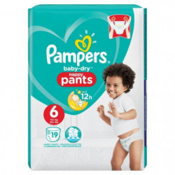 Pampers Baby-Dry Pants Taille 6 15+ kg - 19 Couches-culottes