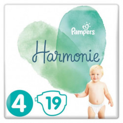 PAMPERS Harmonie Taille4, 9-14kg, 19Couches