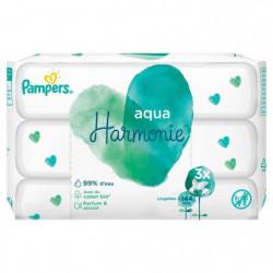 PAMPERS Aqua Harmonie Lingettes Pour Bébé - 3x48 - 144Linge
