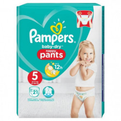 Pampers Baby-Dry Pants Taille 5, 11-18 kg, 21 Couches-culott