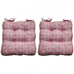 O'CBO Lot de 2 galettes de chaises Max Geometrico - 38 x 38