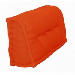 Dossier Cale-Reins 100% coton 60x22/11xH35 cm orange