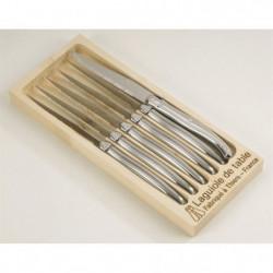 LAGUIOLE Lot de 6 couteaux - 1,2 mm - Lame Inox - Manche Ino