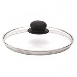 BEKA Couvercle performance verre - Bord inox - Ø 16 cm - Gri