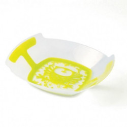 PLASTOREX Assiette MO Polypropylene transparent décor CHOUET