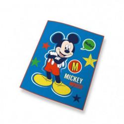 MICKEY Plaid bleu 110x140cm