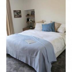 Couverture Polaire 350g/m² - 180x220cm - Bleu Ciel