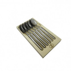 LAGUIOLE Lot de 6 cuilleres de table - Inox - Manche Inox