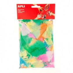 APLI Sachet de plumes - Type duvet - Couleurs assorties - 14