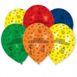 AMSCAN Lot de 6 Ballons en latex imprimé Joyeux Anniversaire