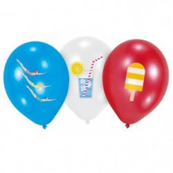 """AMSCAN Lot de 6 Ballons Summer Stories en latex 27,5 cm 11"""""""