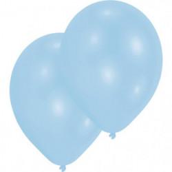 "AMSCAN Lot de 10 Ballons en latex 27,5 cm 11"" - Bleu pâle na"