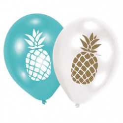 """AMSCAN Lot de 6 Ballons Ananas 27,5 cm 11"""""""