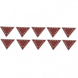 SCHEPPACH Lot de 10 triangles de ponçage grain 240 pour ponc