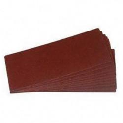 Lot de 12 rectangles abrasifs tous travaux - 230 mm - Grain