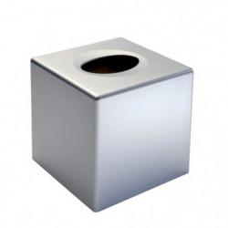 GERSON Boite a mouchoirs carré - 13,5x13,5x13 cm -  Chromé m
