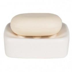 RETRO Porte savon - 3,5x10,5x10,5cm - Blanc
