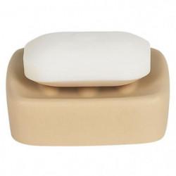 RETRO Porte savon - 3,5x10,5x10,5cm - Beige