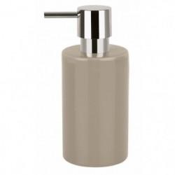 TUBE Distributeur de savon Gres - 16x7x7 cm - Marron taupe