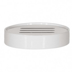 TUBE Porte savon Porcelaine - 2,5x10,5x10,5 cm - Blanc