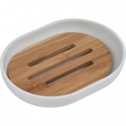 Porte savon - Plastique / bambou - H2,5 x l12,5 x P9,5 cm