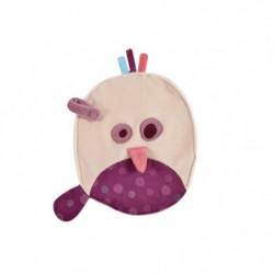 DOMIVA Doudou Ovale Etiquette Avec Attache-Sucette Birdy