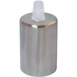 TIBELEC Douille E27 + cache-douille métal chromé