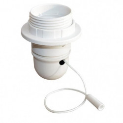 TIBELEC Douille E27 + interrupteur a tirette - Blanc