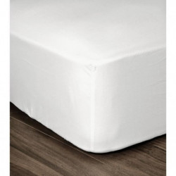LOVELY HOME Drap Housse 100% coton 160x200x25 cm blanc