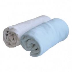 DOUX NID Lot 1 Alese + 1 Drap Housse - 70x140 Cm - Bleu clai