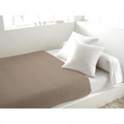 SOLEIL d'OCRE Drap plat 100% Coton 240x290cm Taupe