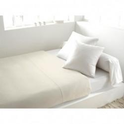 SOLEIL d'OCRE Drap plat 100% Coton 260x300cm Ecru
